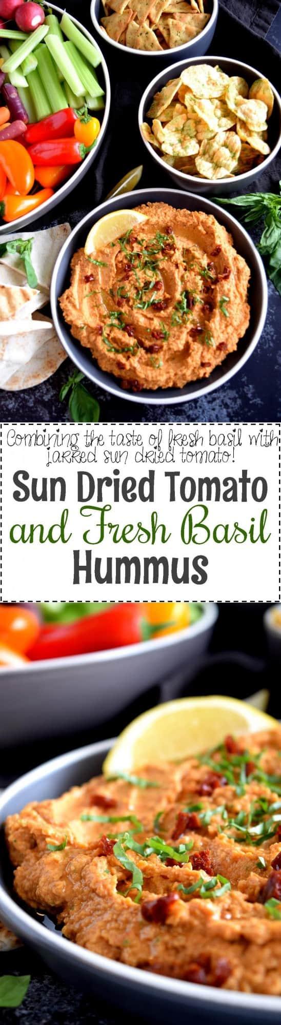 Sun Dried Tomato and Fresh Basil Hummus - Lord Byron's Kitchen