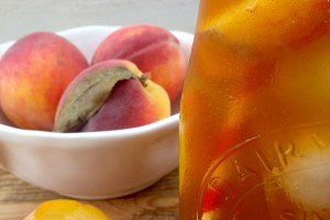 Peach Sweetened Iced Tea