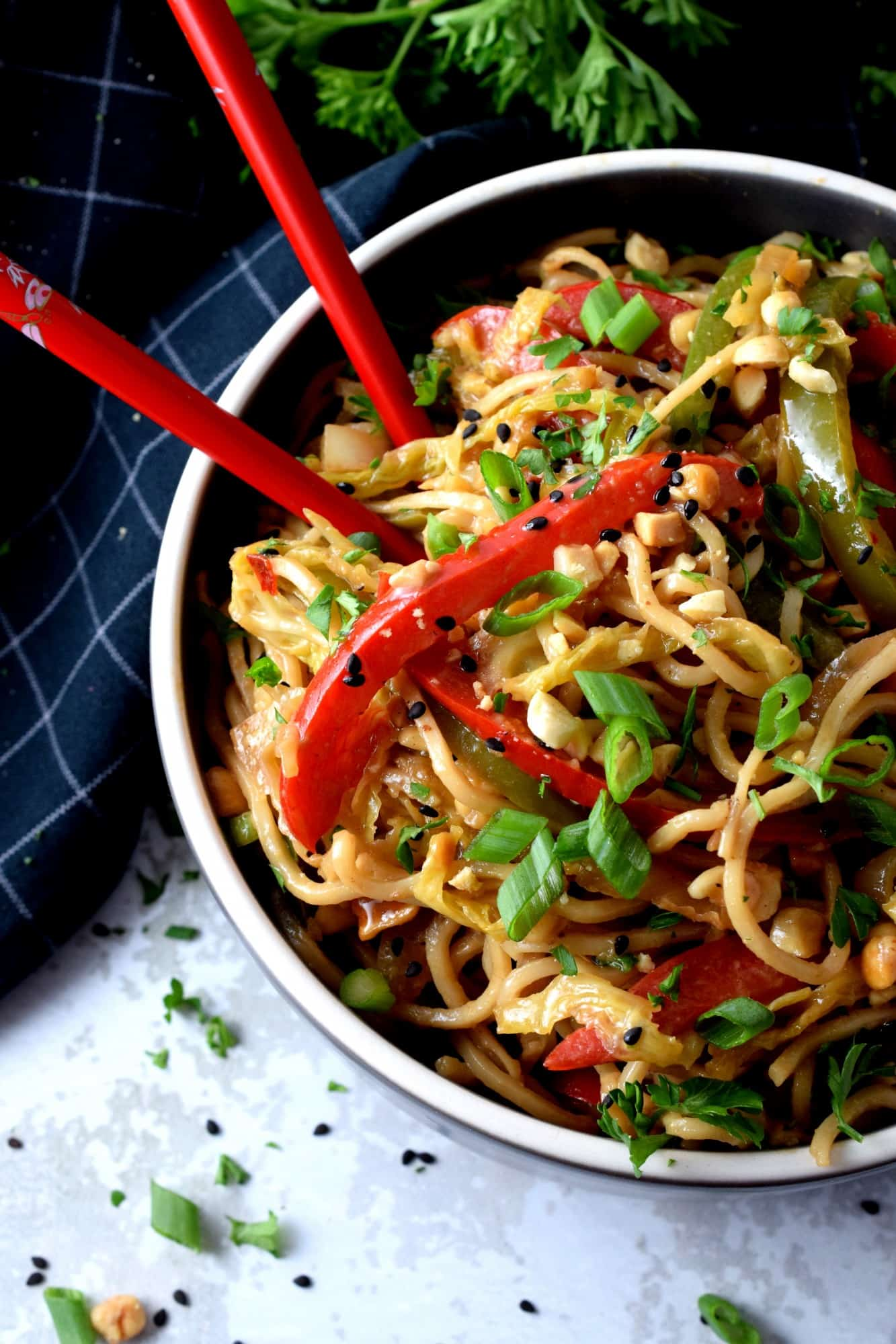 Easy Spicy Vegetable Noodles