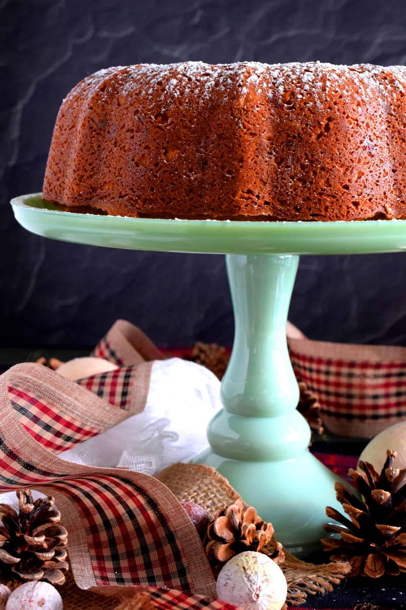 Glace Mixed Fruit Bundt Cake