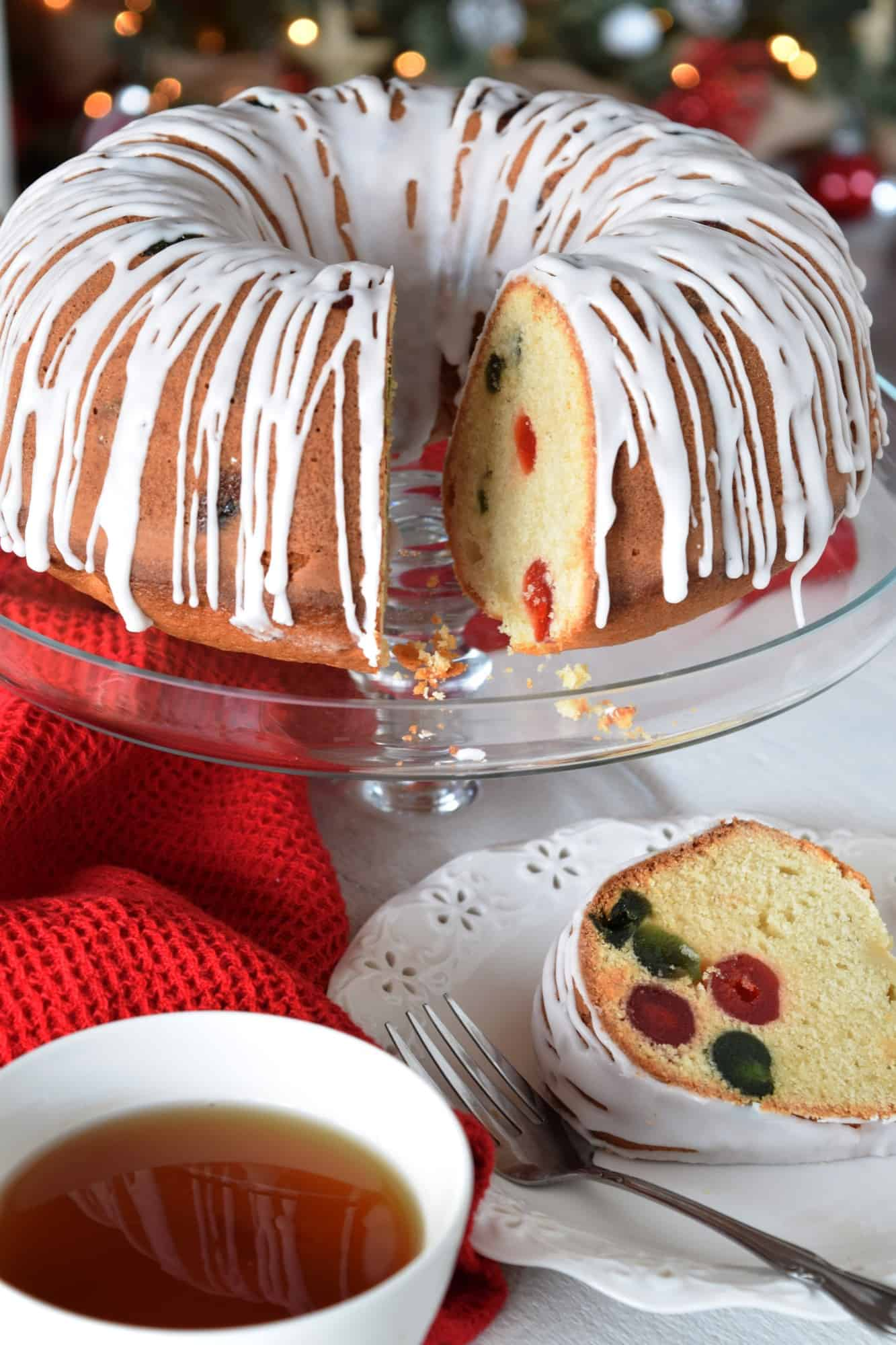 Christmas Cherry Butter Bundt Cake