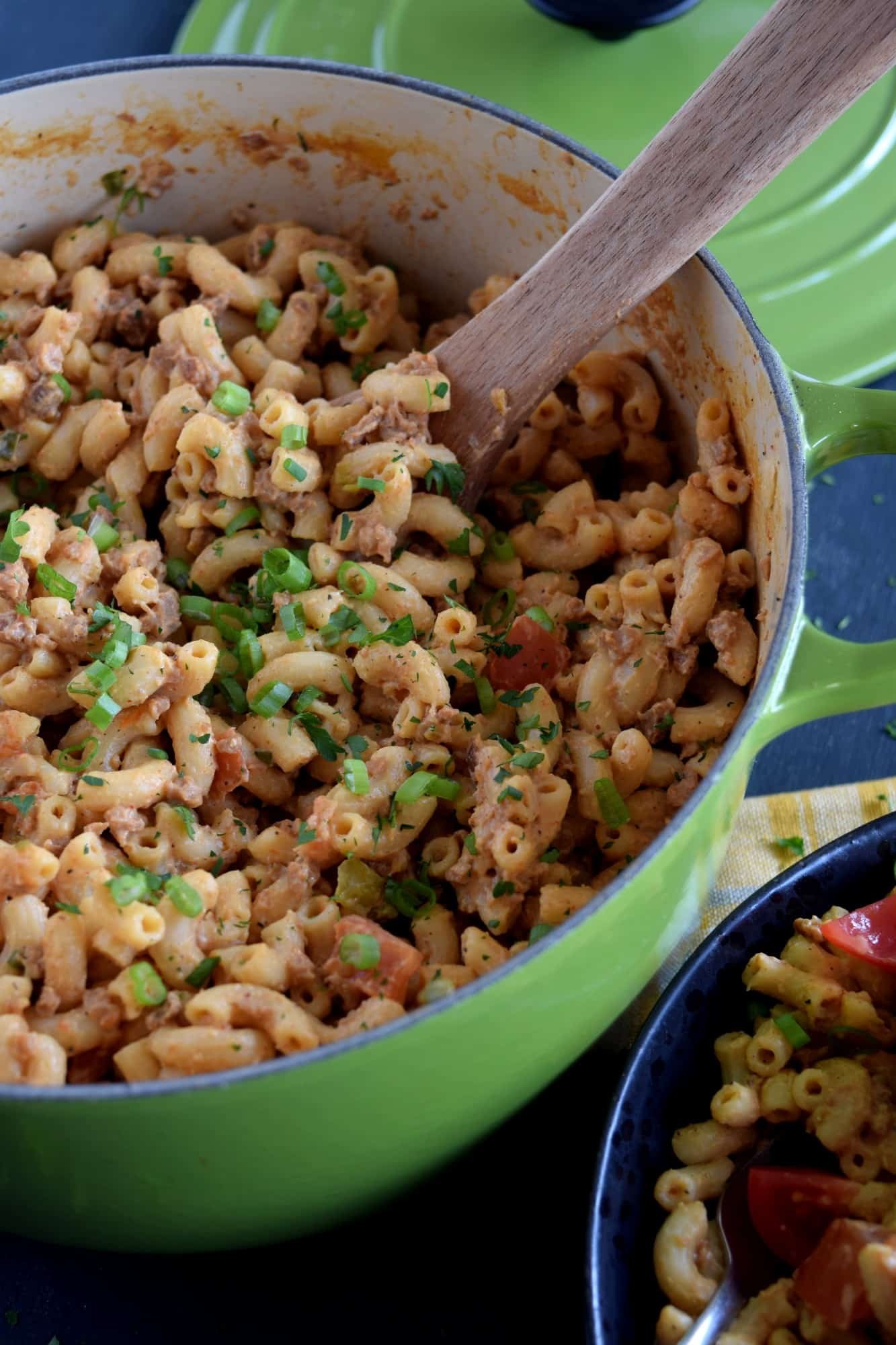 Meatless Skillet Taco Pasta