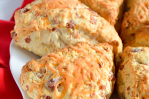Ham And Cheese Scones Are A Perfect Savory Nibble For Brunch Or Breakfast!
