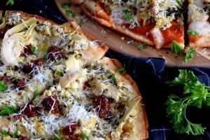 Artichoke And Spinach Dip Pizza
