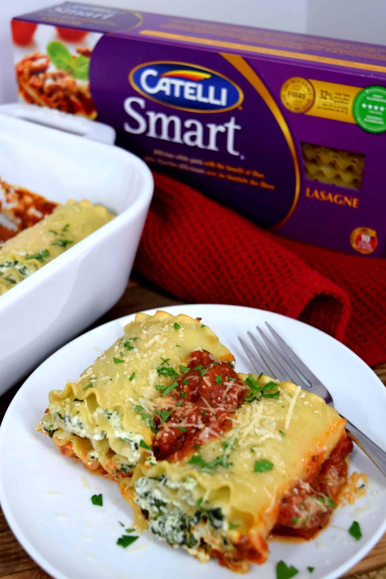 Spinach Ricotta Lasagna Rolls