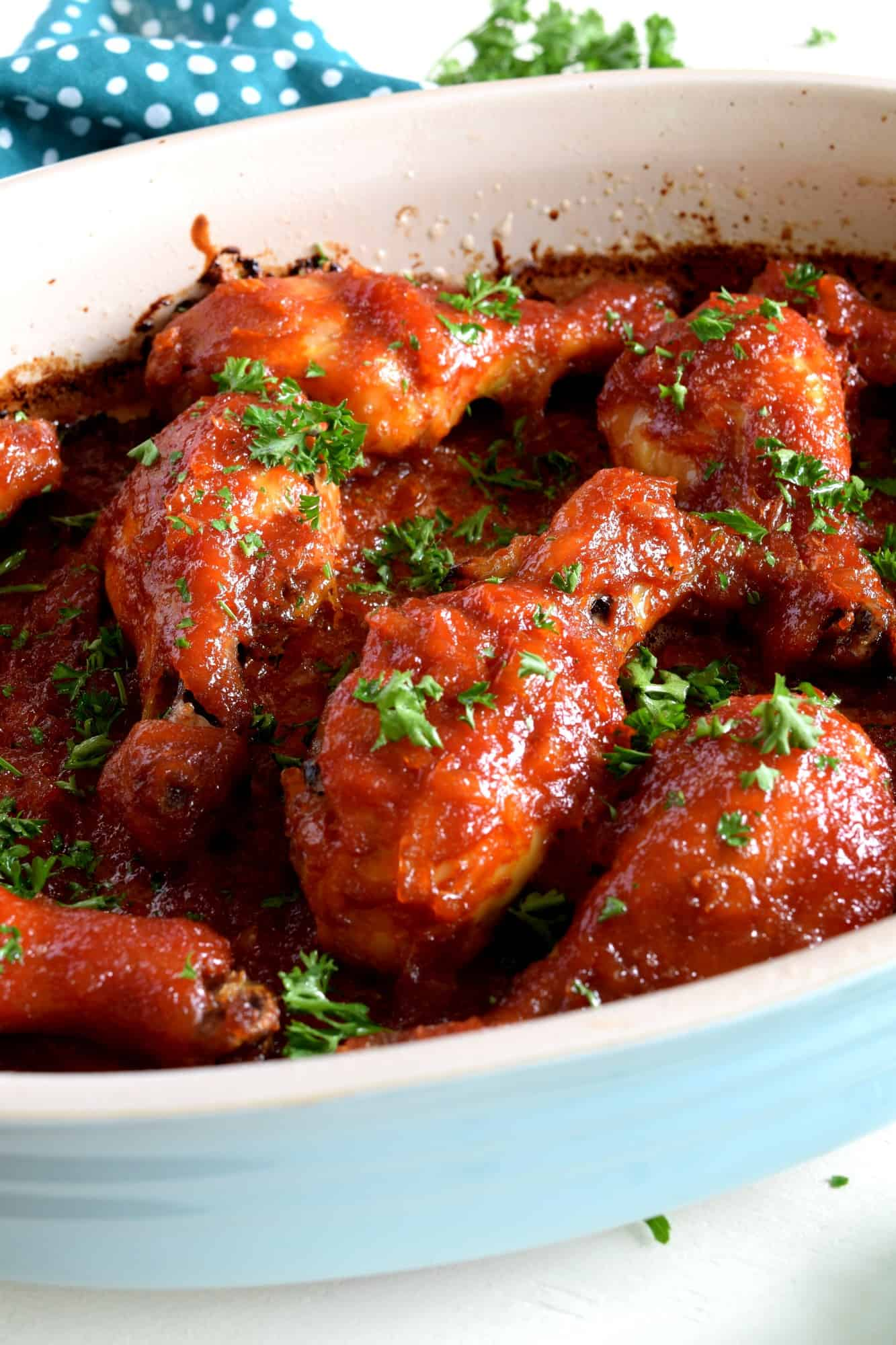 Sweet And Sticky Four Ingredient Chicken Drumsticks