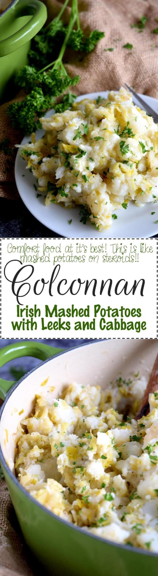 Colconnan - Irish Mashed Potatoes with Leeks and Cabbage - Lord