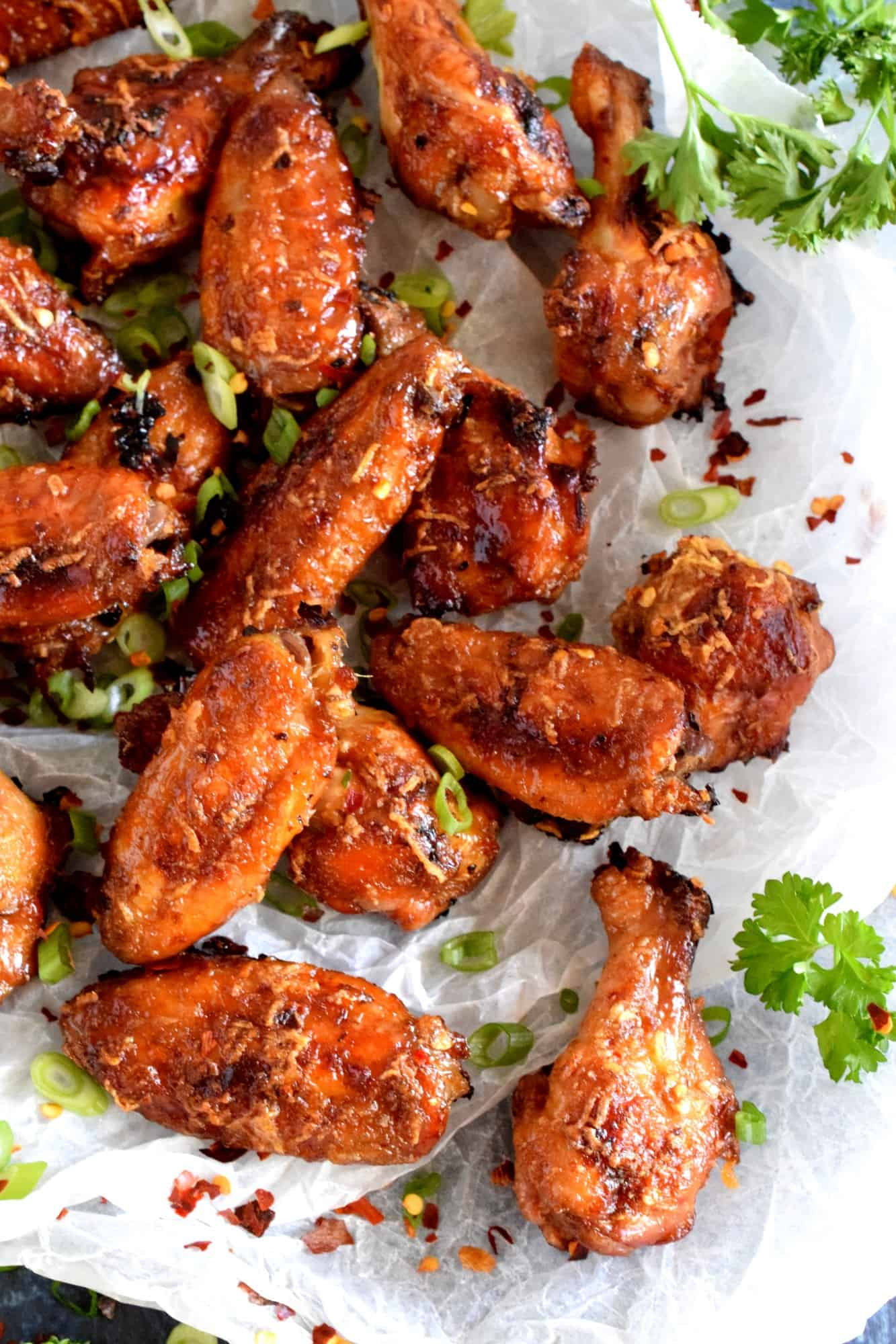 Chili Ginger Garlic Honey Wings
