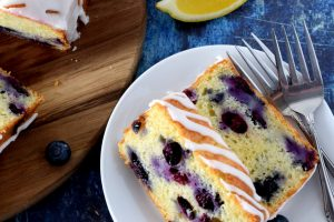Lemon Glazed Blueberry Loaf