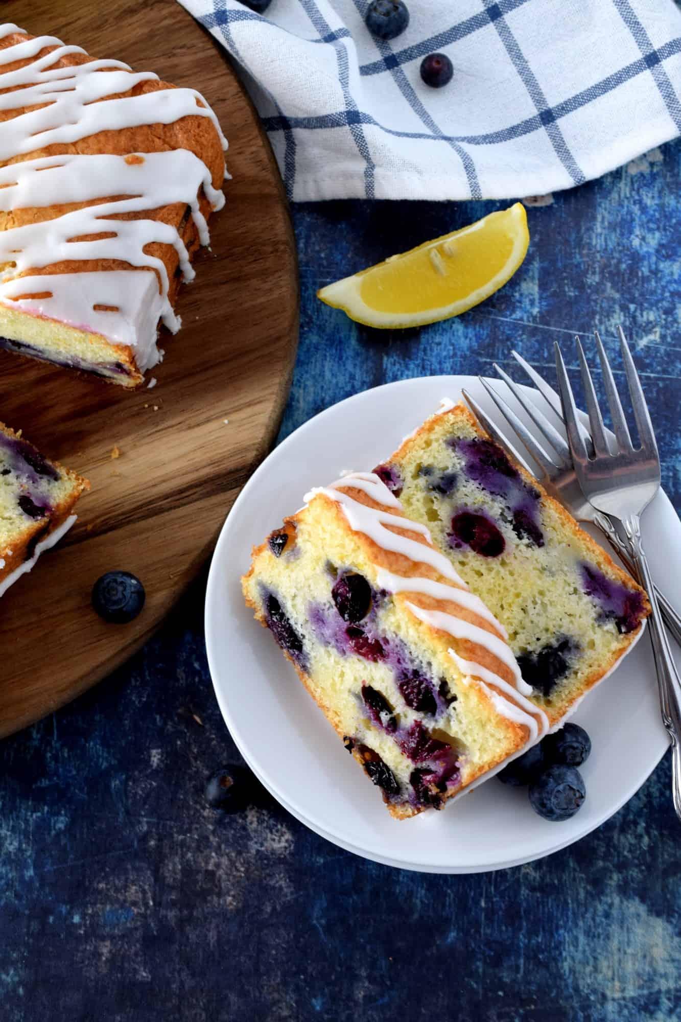 Lemon Glazed Blueberry Loaf