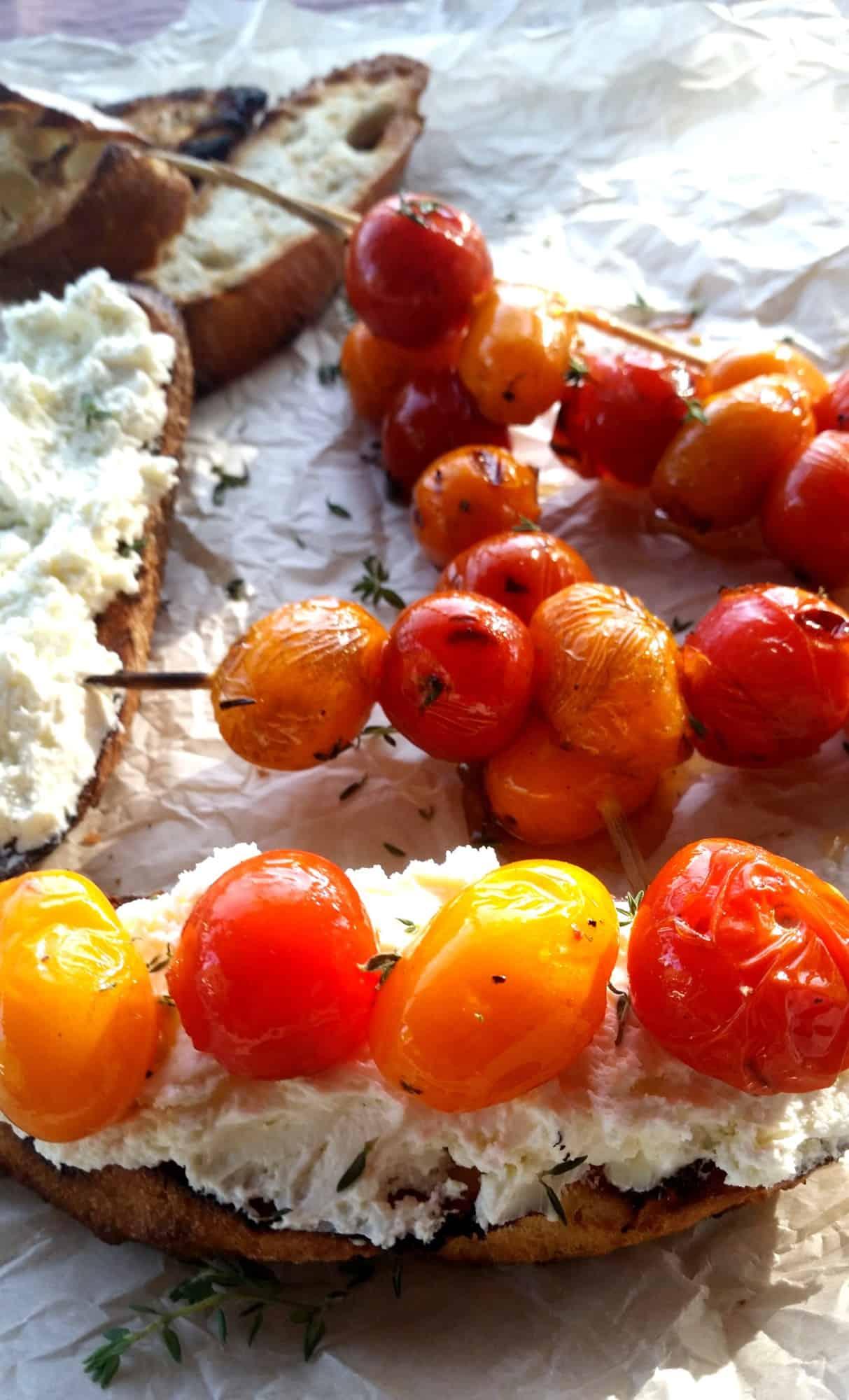 Grilled Tomato Crostini