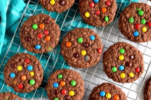 Double Chocolate M&M Cookies