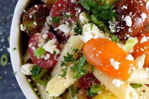 Heirloom Tomato Feta Pasta Salad