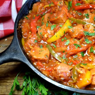 Vegetarian Sausage And Peppers