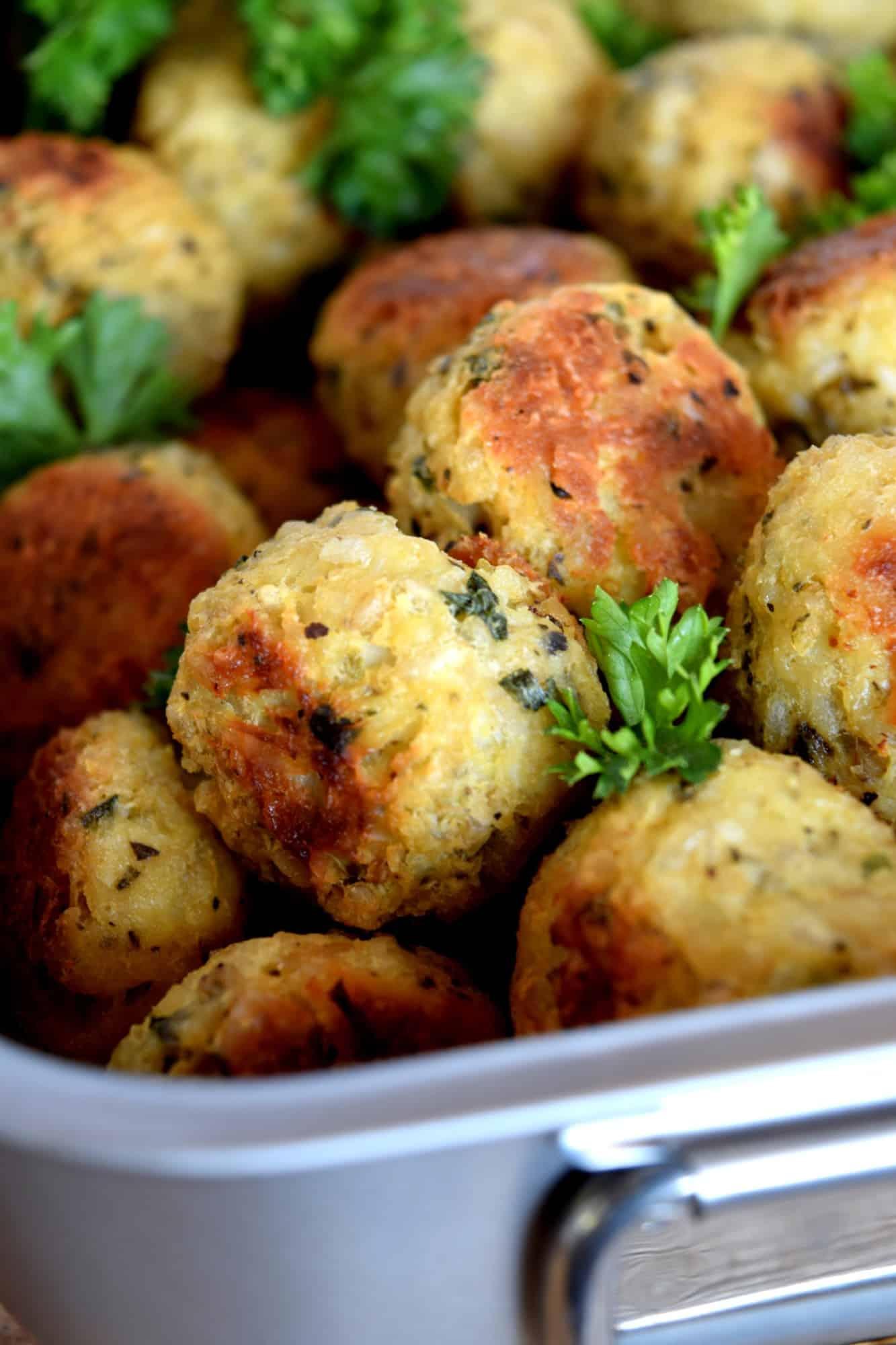 Cauliflower Brown Rice Meatballs
