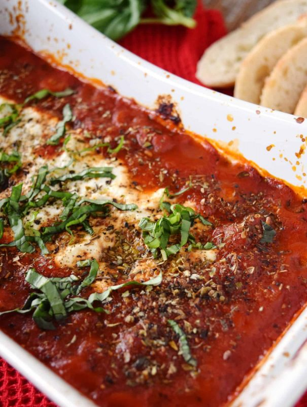 baked-goat-cheese-dip-in-marinara-sauce