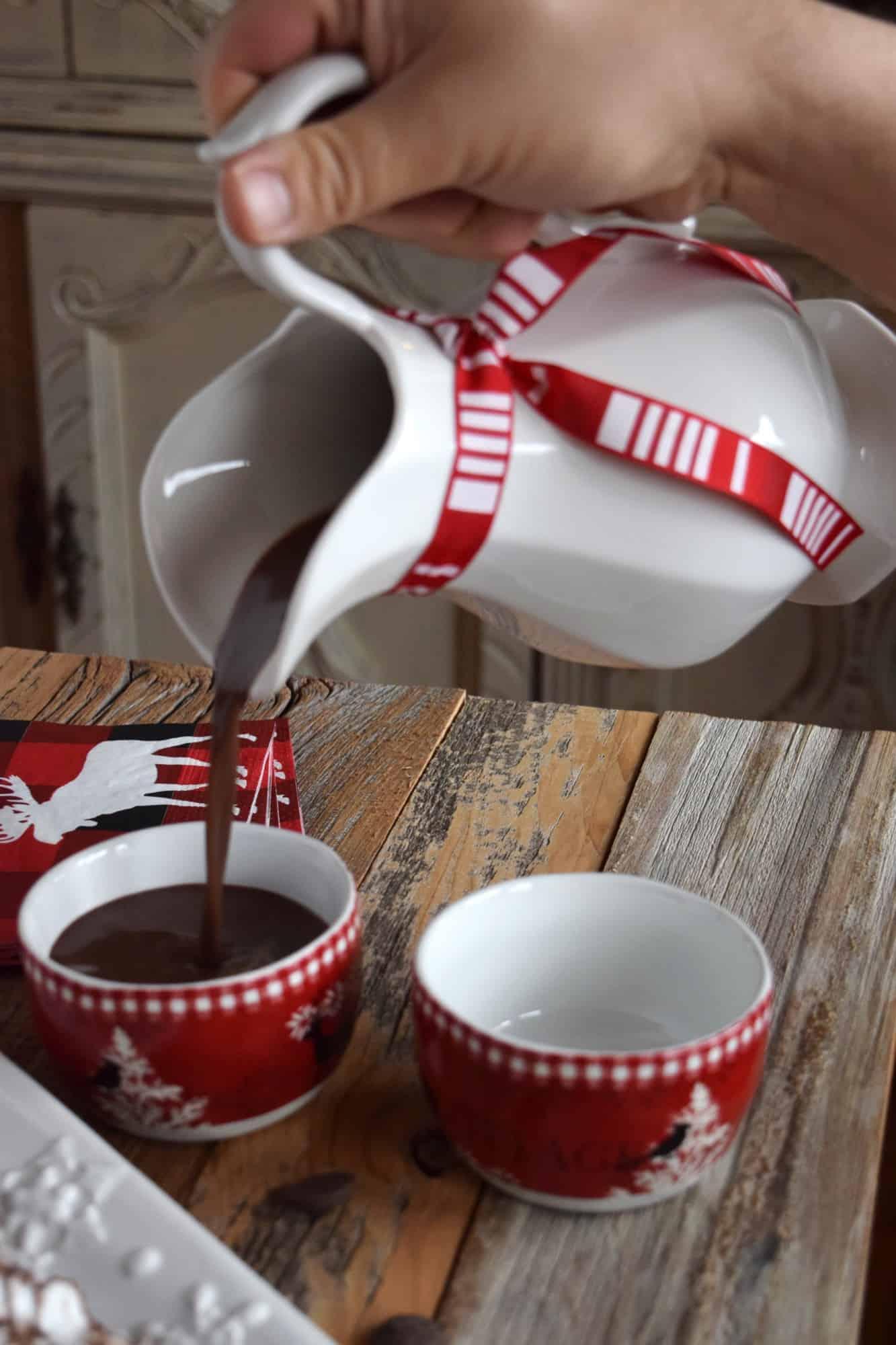 Red Wine Dark Hot Chocolate