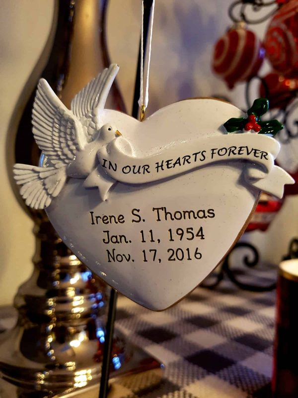 The most important ornament - a remembrance ornament for my mom.