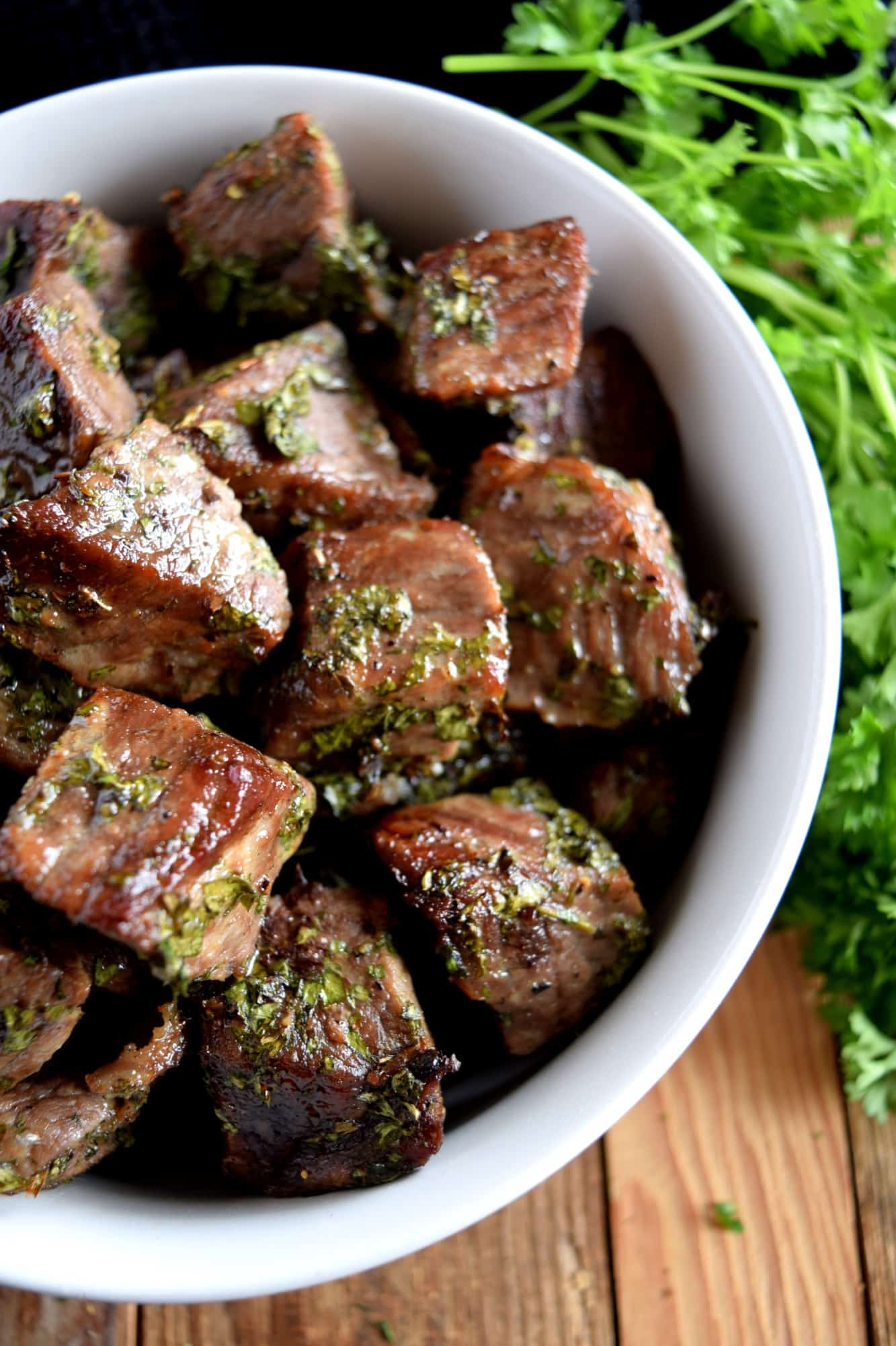 Roasted Herbed Beef Tips