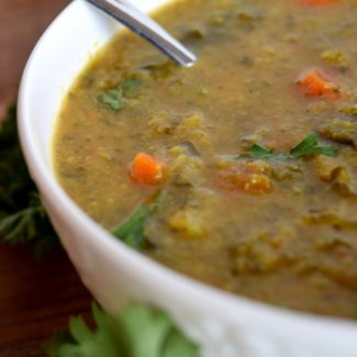 Cauliflower And Kale Curry Soup