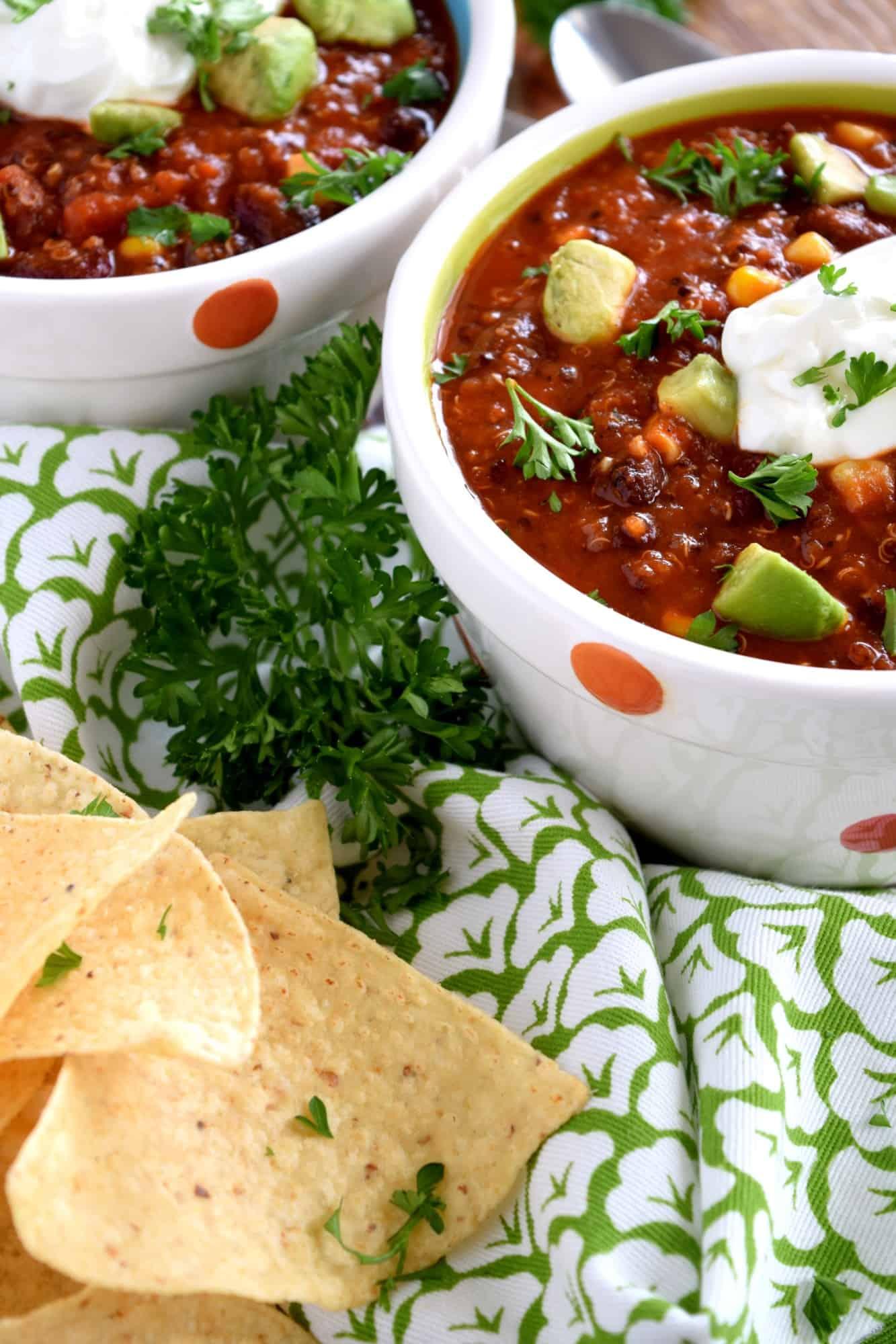Vegetarian Quinoa Chili