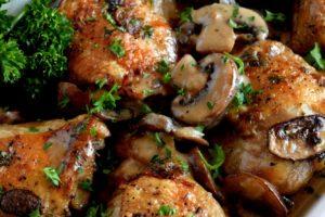 Creamy Mushroom Sauce Baked Chicken