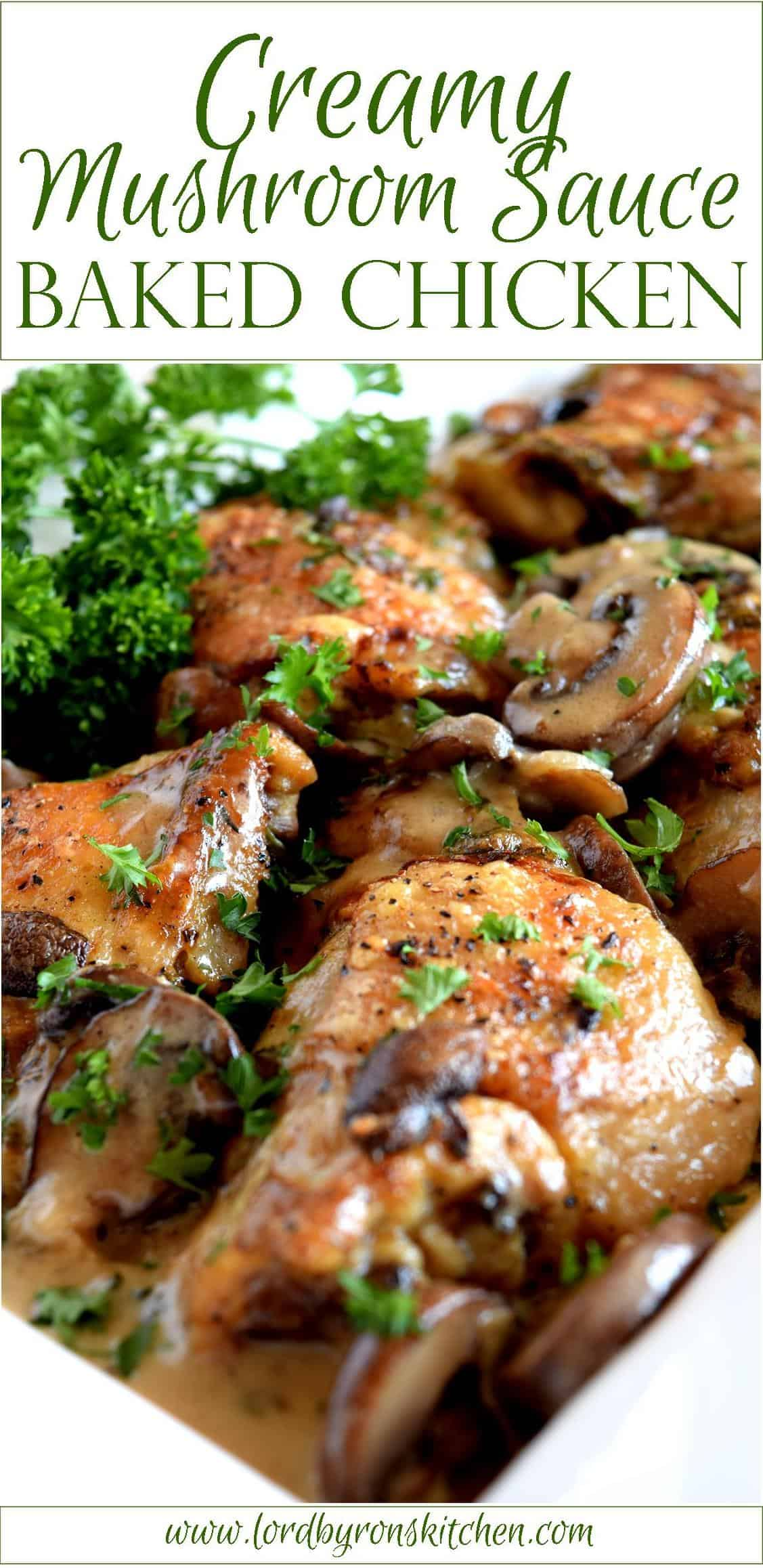 Creamy Mushroom Sauce Baked Chicken Lord Byron S Kitchen