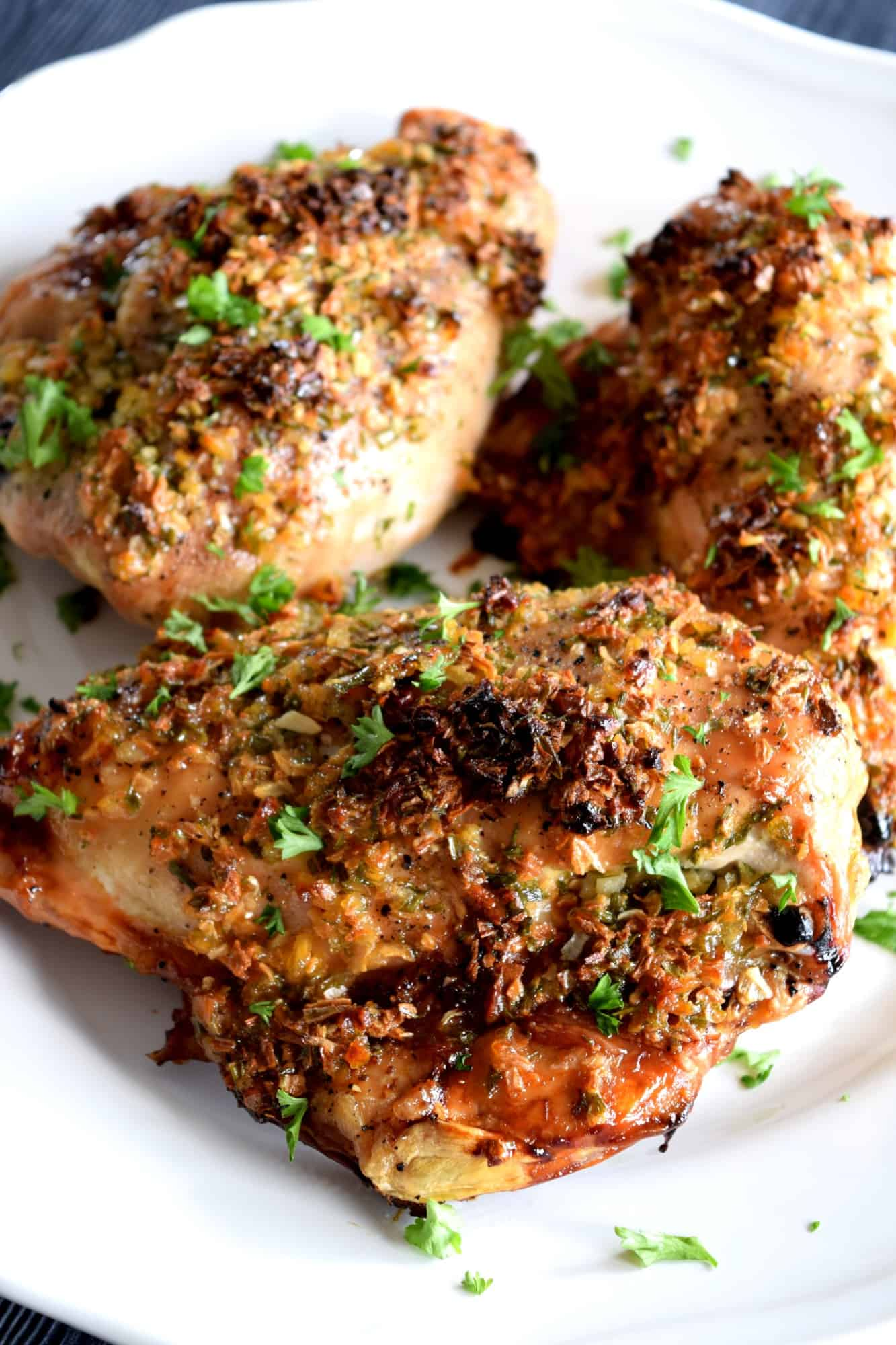 how to make garlic chicken in the oven