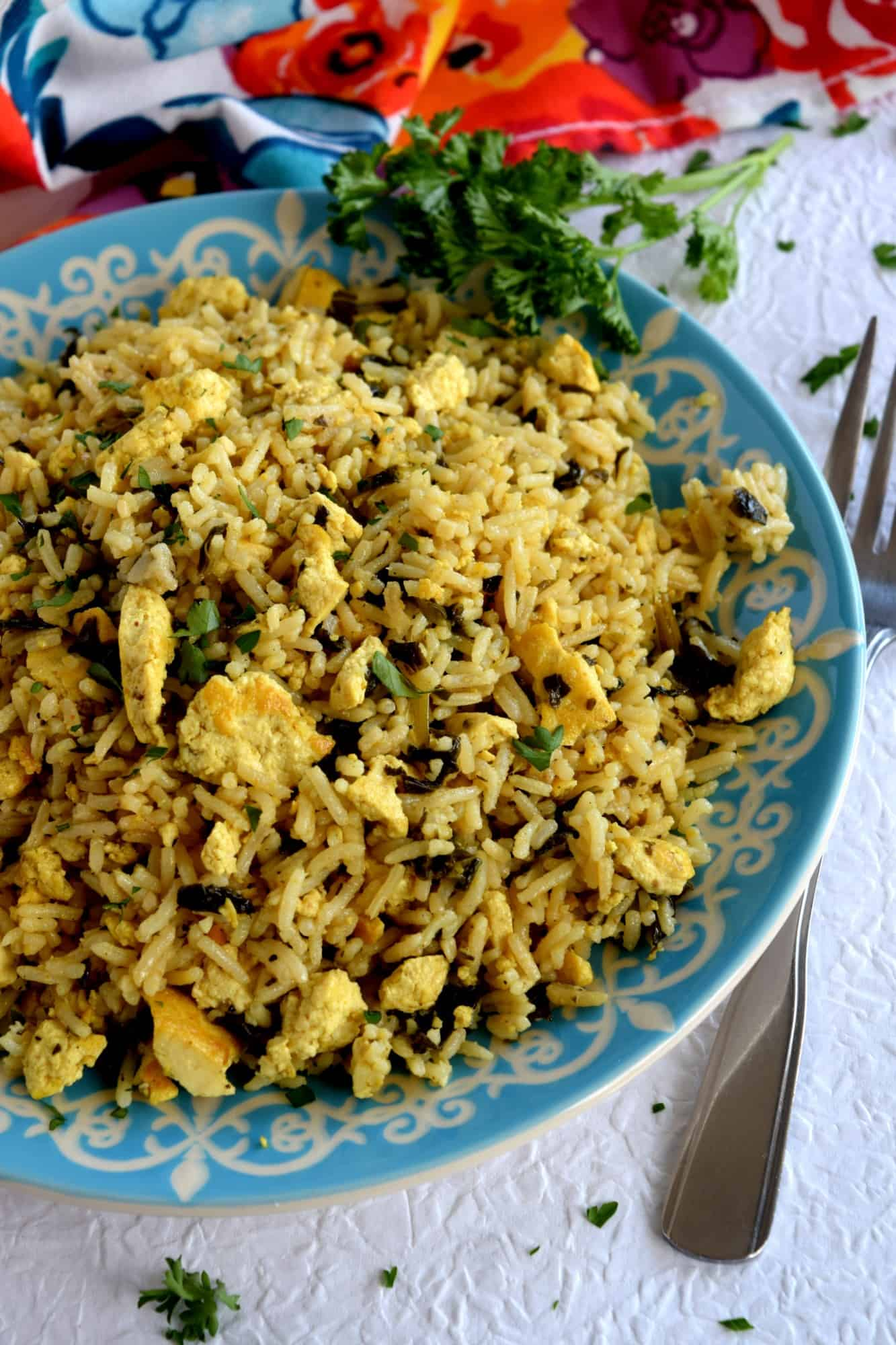 Scrambled tofu and kale fried rice lord byrons kitchen scrambled tofu and kale fried rice has to be on of the easiest dishes ive made in a very long time seriously this entire dish comes together in less than ccuart Image collections