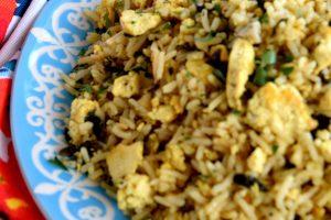 Scrambled Tofu And Kale Fried Rice
