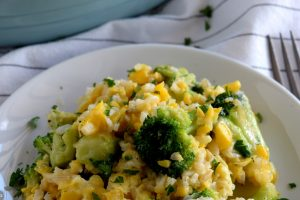 Corn And Broccoli Brown Rice Casserole