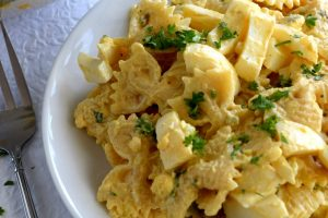 Fast And Easy Deviled Egg Pasta Salad