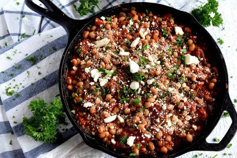 Spicy White Bean With Tomato Skillet