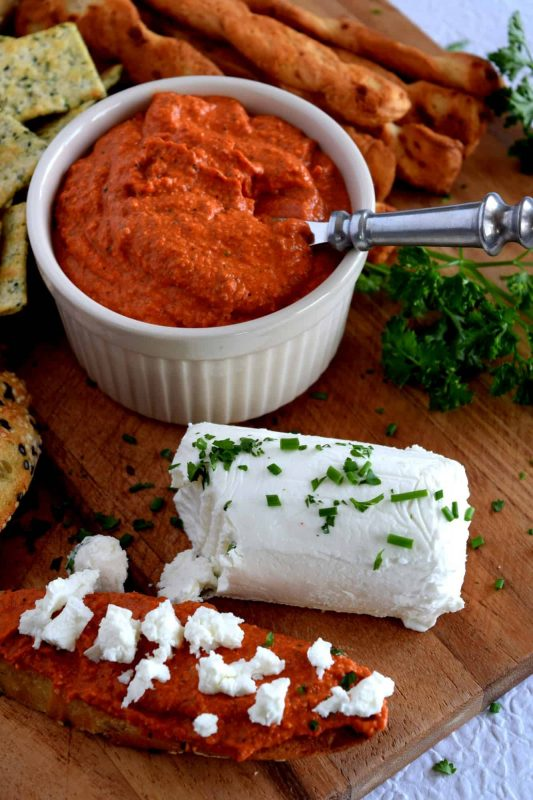 Roasted Red Pepper Walnut Pesto - Lord Byron's Kitchen
