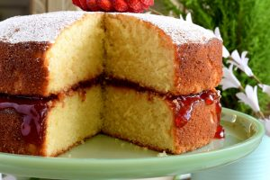 Jam Filled Vanilla Layer Cake