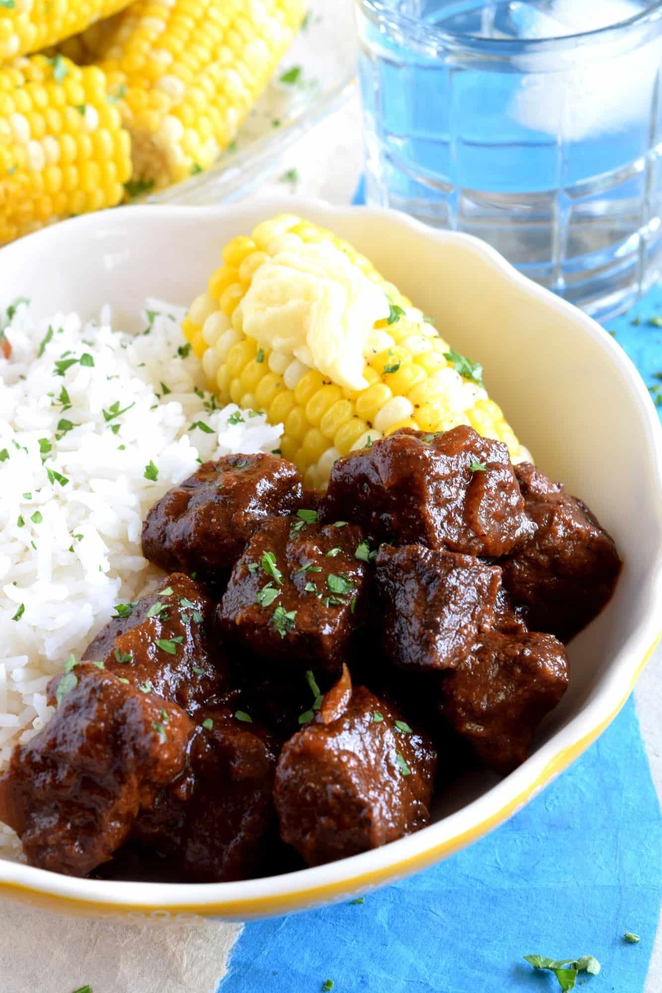 Slow Braised Barbequed Beef Bites