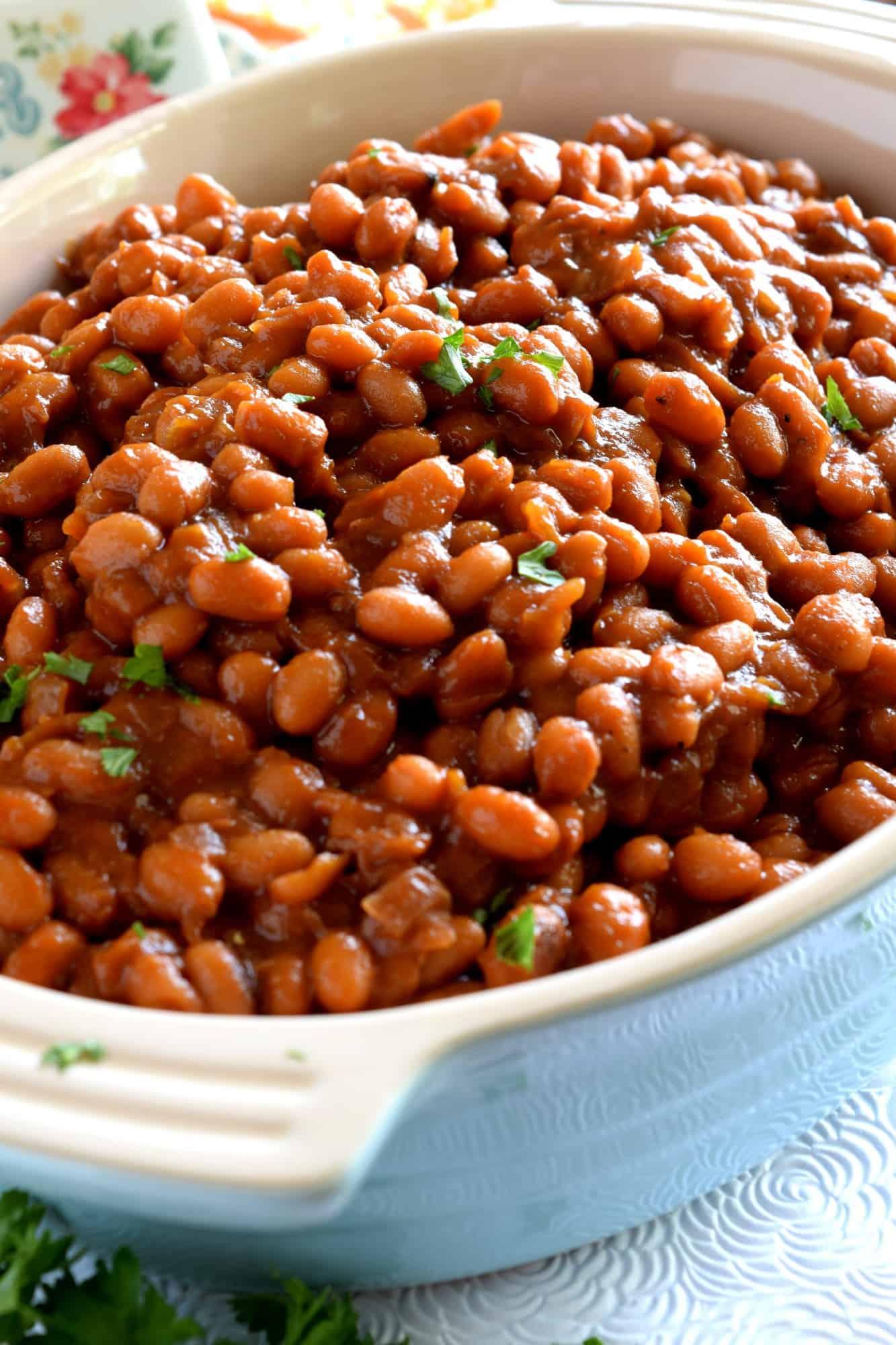 Stovetop Homemade Vegetarian Baked Beans