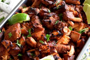 Oven Baked Brown Sugar Spiced Pork Carnitas