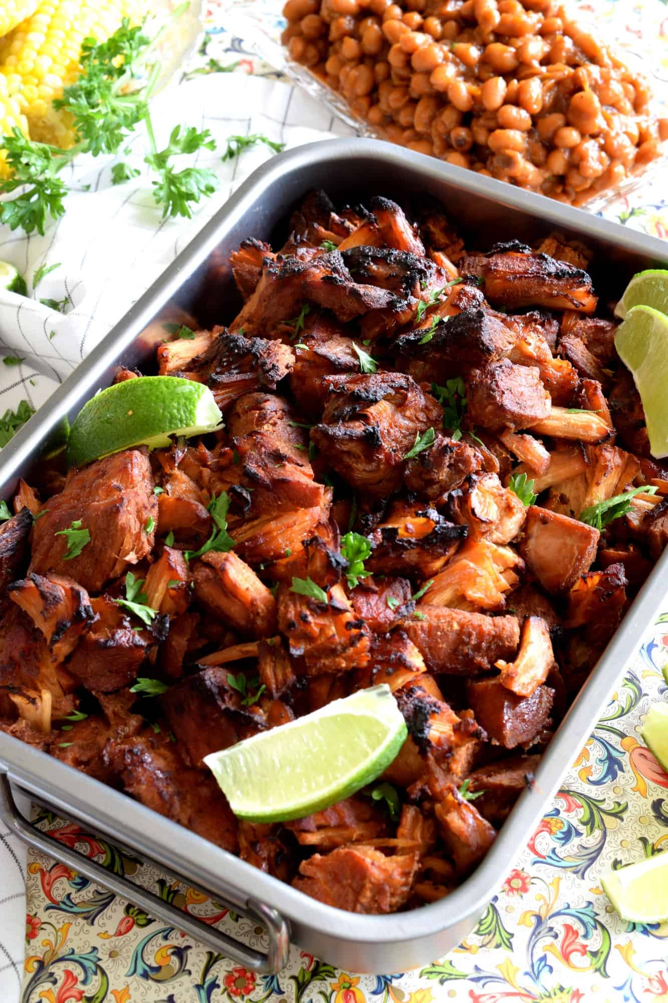 Oven Baked Brown Sugar Spiced Pork Carnitas