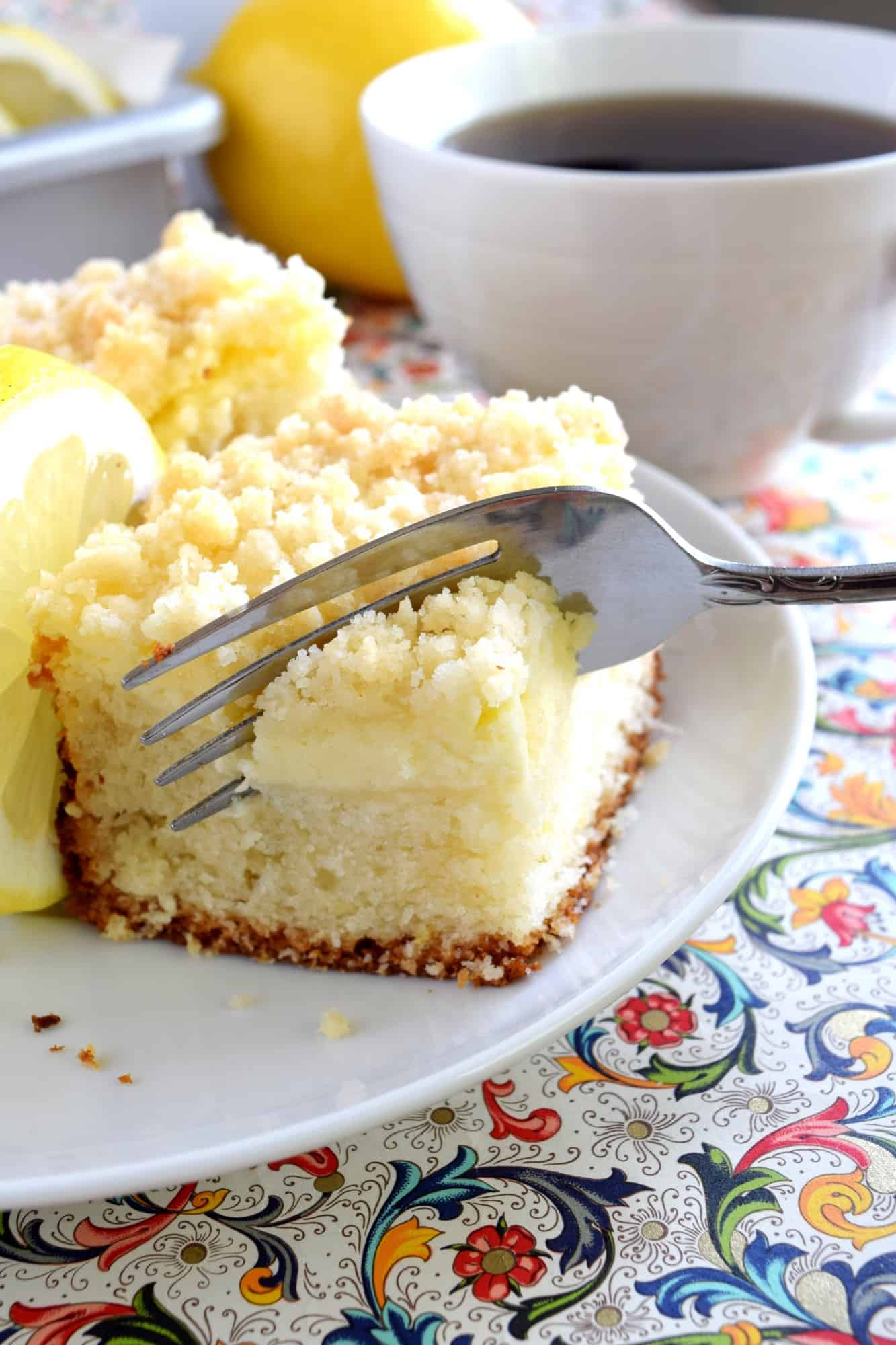 Coffee Cake With Cream Cheese Topping