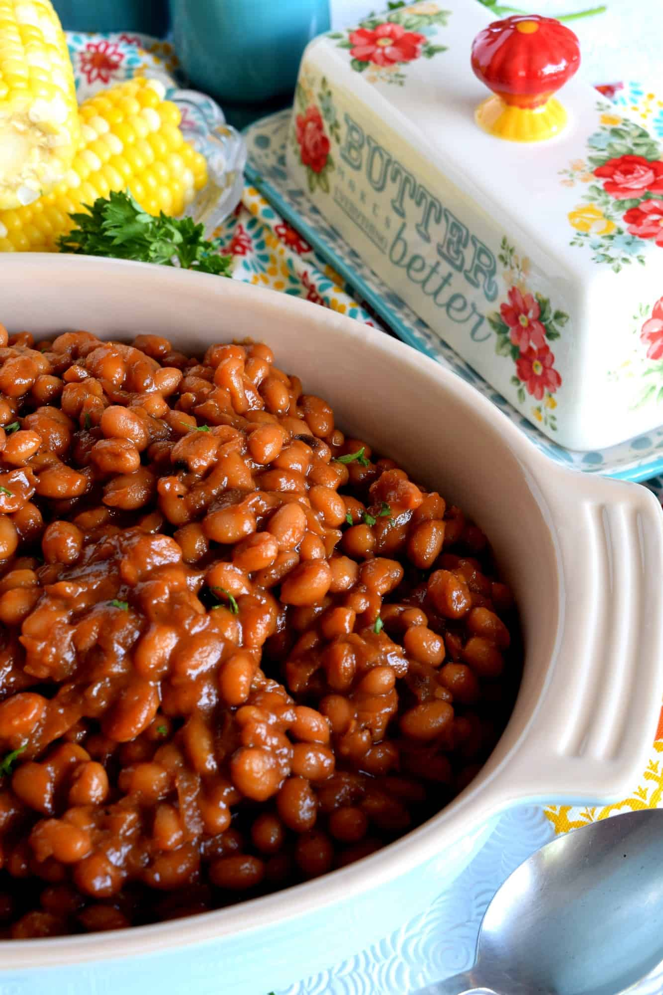 how to make vegetarian baked beans