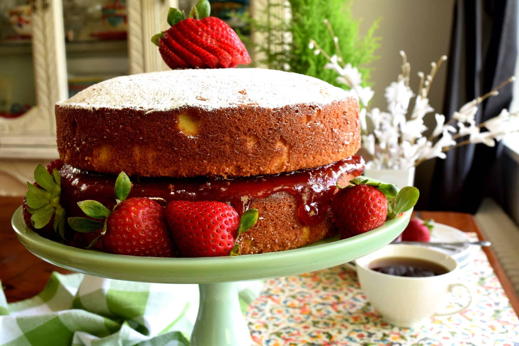 Jam Filled Vanilla Layer Cake Lord Byrons Kitchen