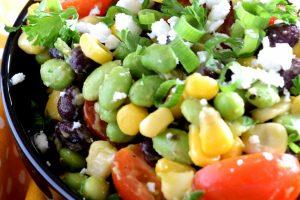 Edamame Black Bean Tomato Corn Corn Guacamole Salad