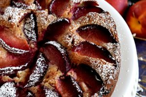 Easy Spiced Stone Fruit Cake