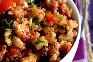 Hearty And Healthy Vegetarian Jambalaya