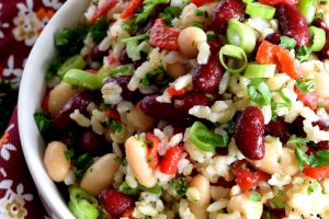 Kidney Bean Brown Rice Salad