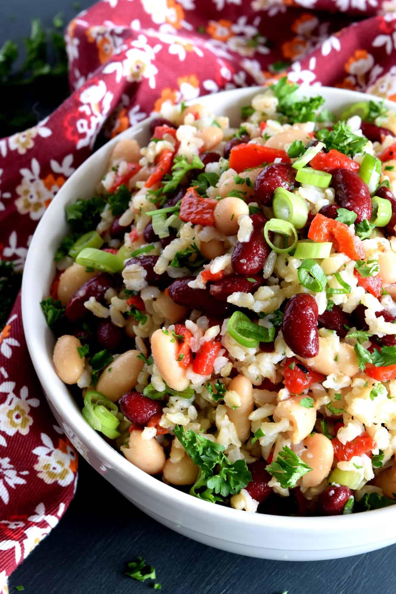 Kidney Bean Brown Rice Salad
