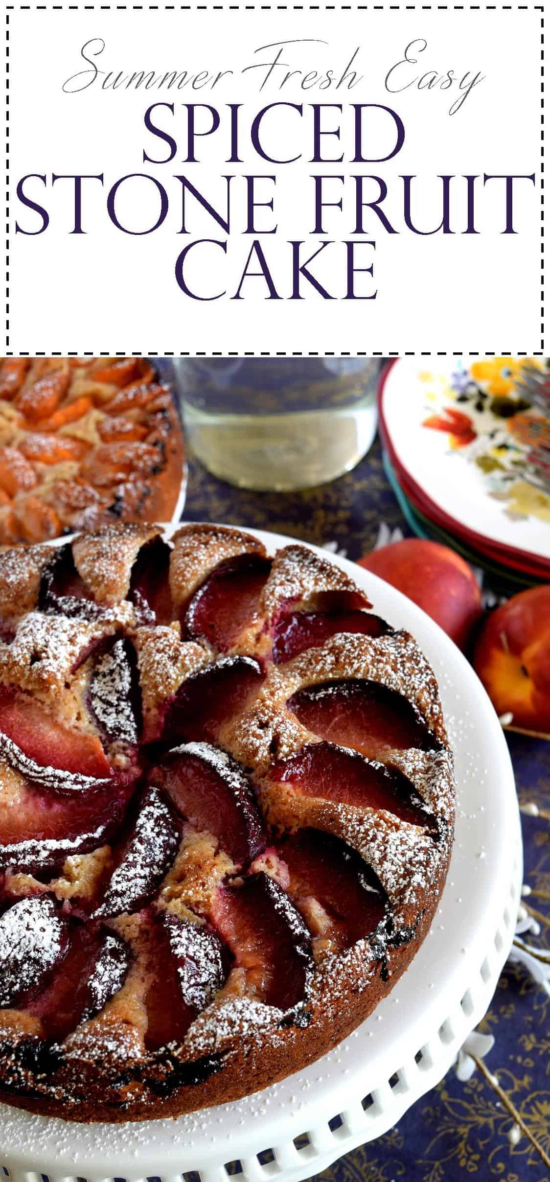 Easy Spiced Stone Fruit Cake Lord Byrons Kitchen