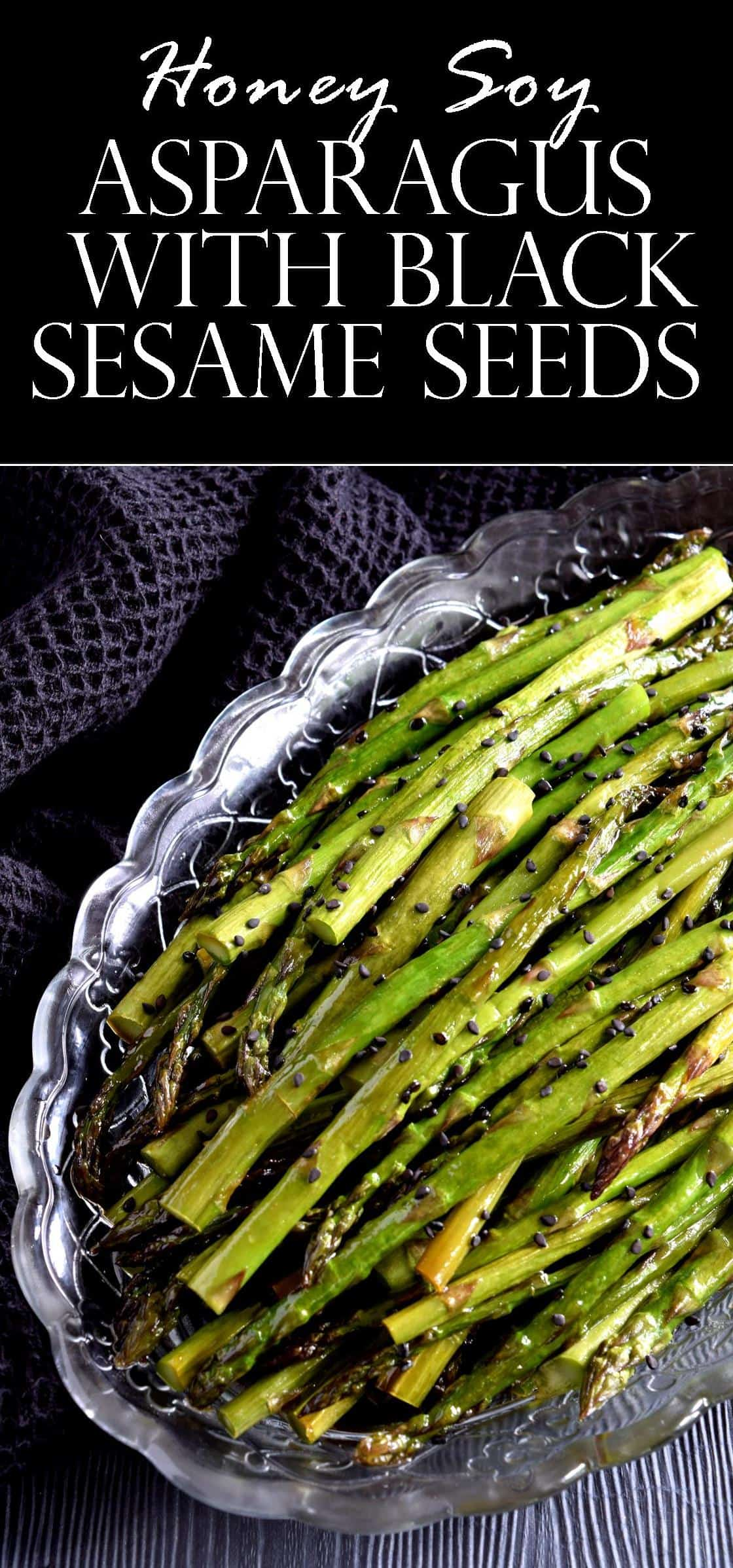 Maybe It's Just Me, But There's Just Something Really Appealing And Really  Pretty About Black Sesame Seeds Personally, I Think They Make These  Asparagus