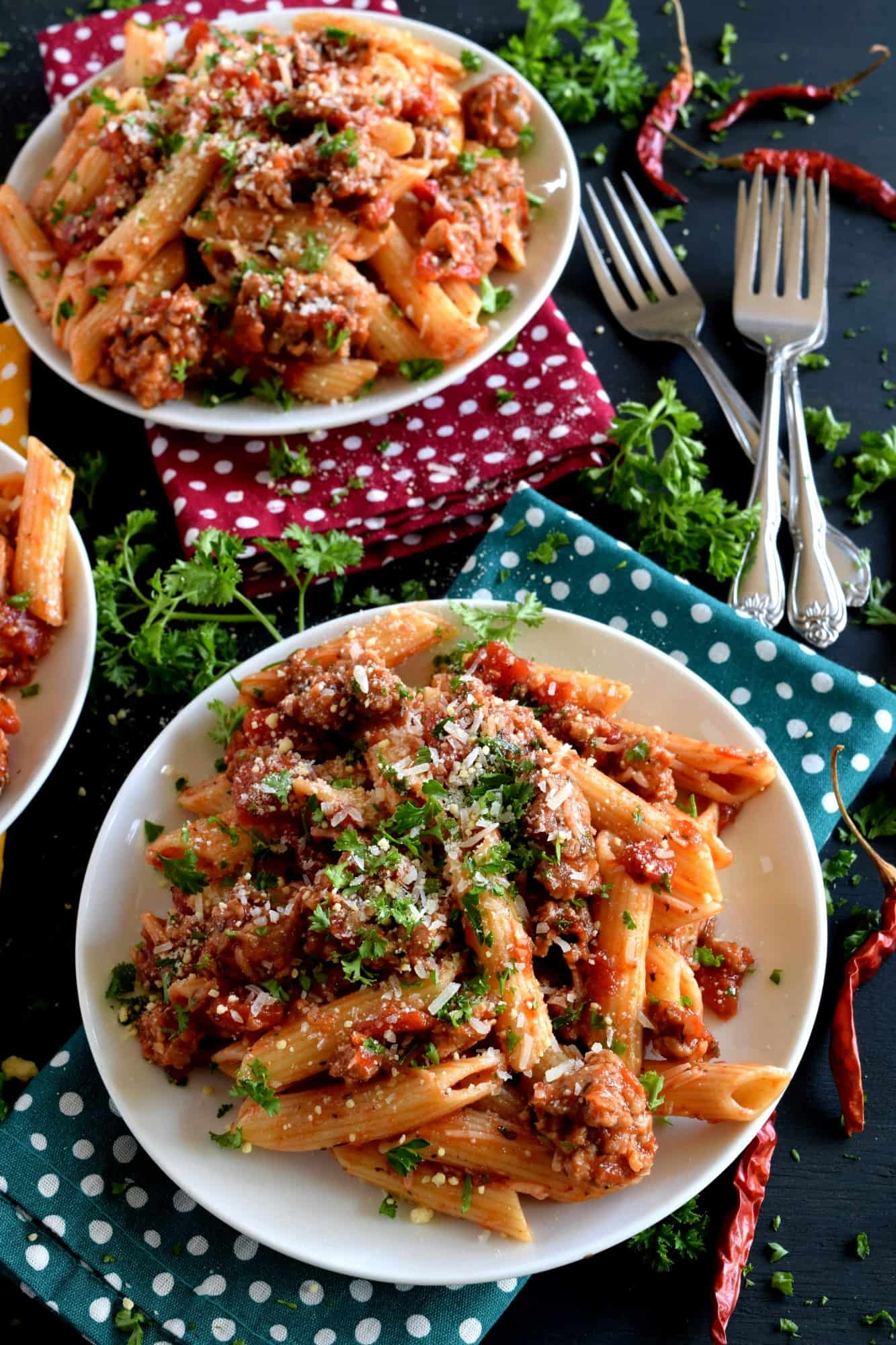 Spicy Italian Sausage Penne Pasta